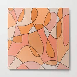 Peach Swirl Metal Print