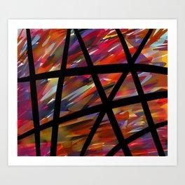 Colorful Chaos - Blacked Art Print
