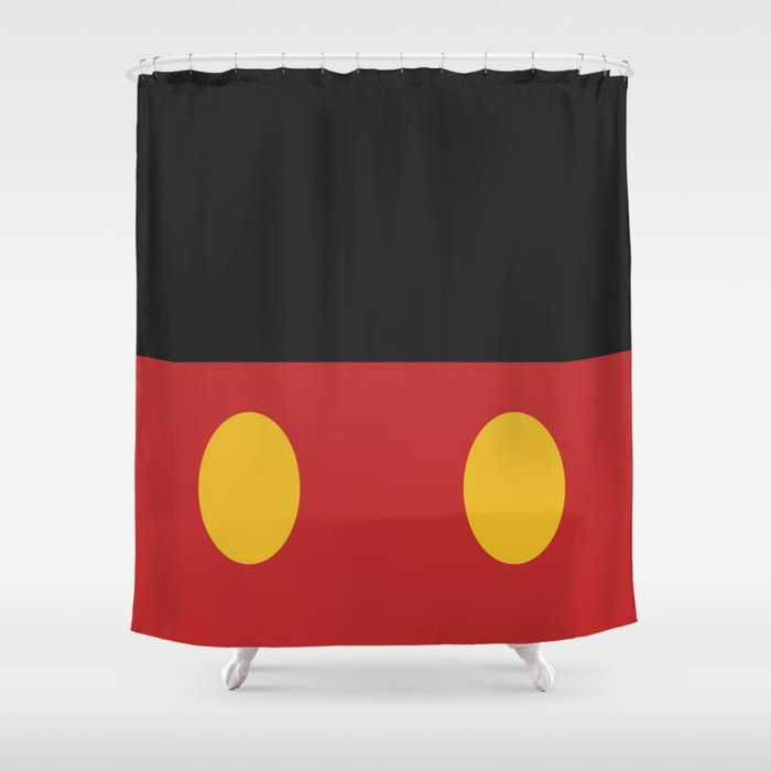 Minimal Mickey Mouse Shower Curtain