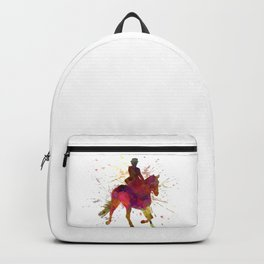Horse show 03 in watercolor Backpack