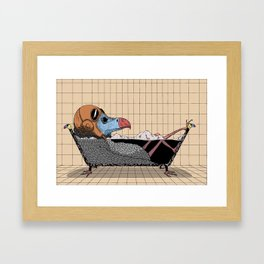 Every bird needs a bath Framed Art Print