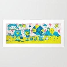 Live Large Art Print