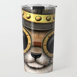 Steampunk Baby Cheetah Cub Travel Mug