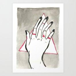 Hand of Change Art Print