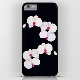 Trois Orchids and a Bud iPhone Case