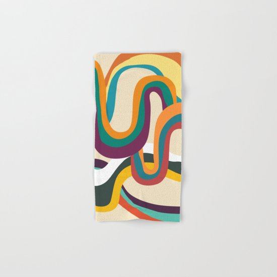 Groovy rainbow of doom Hand & Bath Towel
