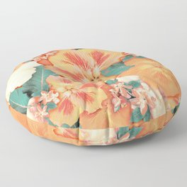 Aloha Orange Sherbet Floor Pillow