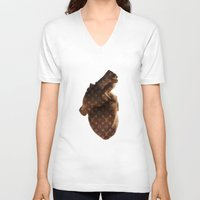 lv V-neck T-shirts featuring Heart LV by partyboyfriend