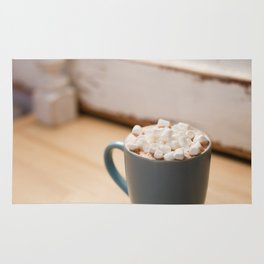 marshmallow with hot cocoa Rug
