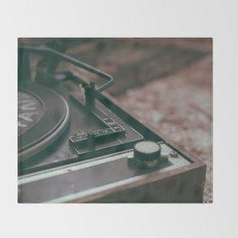 Vintage turntable Throw Blanket
