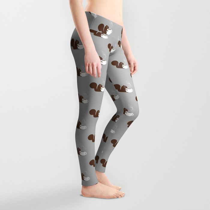 Squirrel Coffee Lover Leggings