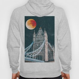 Blood Moon over London, England Tower Bridge Hoody