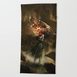 Can not prevent it, but there is no need to prevent it Beach Towel