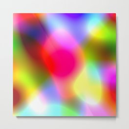 Rainbow Ombre Colorful Cells Metal Print