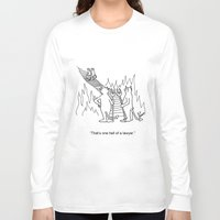 "lawyer Long Sleeve T-shirts featuring ""One Hell Of A Lawyer"" by Bill Abbott Business Cartoons"
