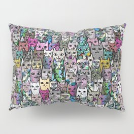 Gemstone Cats CYMK Pillow Sham