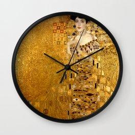 Woman in Gold Portrait by Gustav Klimt Wall Clock