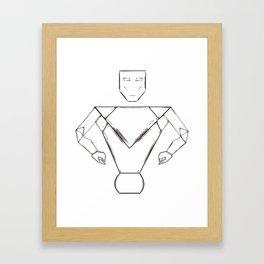 robot pht illustrator Framed Art Print