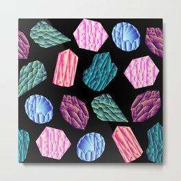 Low poly crystal pattern 1 Metal Print