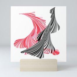 tango for two minimal abstract digital painting Mini Art Print