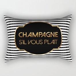 Champagne S'il Vous Plait Rectangular Pillow