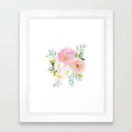 Sweet Pink Blooms (Floral 02) Framed Art Print