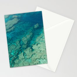 Paradise from above - Beautiful coral reef with clear blue and turquoise water, tropical Japan Stationery Cards