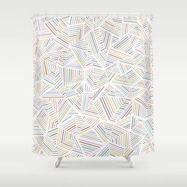 Abstraction Linear Rainbow Shower Curtain