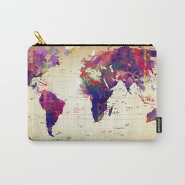 map painting  Carry-All Pouch
