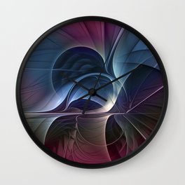 Fractal Mysterious, Colorful Abstract Art Wall Clock