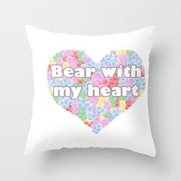 Bear with my heart Throw Pillow