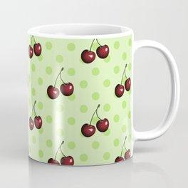 CHERRIES ON MINT GREEN Coffee Mug