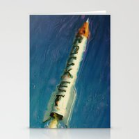 rocket Stationery Cards featuring Rocket by Kevin Garrison