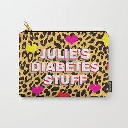 Julie's Diabetes Stuff (Leopard Love) Carry-All Pouch