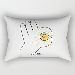 I'm OK Rectangular Pillow