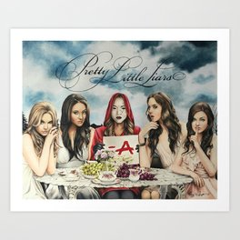 "Pretty Little Liars - ""Red Coat"" | Drawing Art Print"