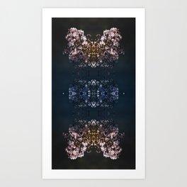 Butterfly illusion Art Print