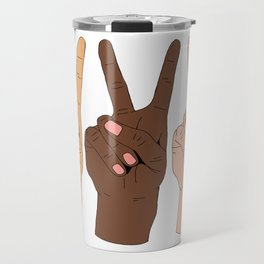 Peace Hands Travel Mug