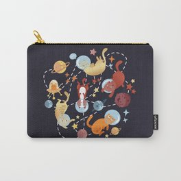 Catstronauts - retro catastronaut pattern Carry-All Pouch