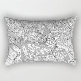 Hamburg Map Line Rectangular Pillow