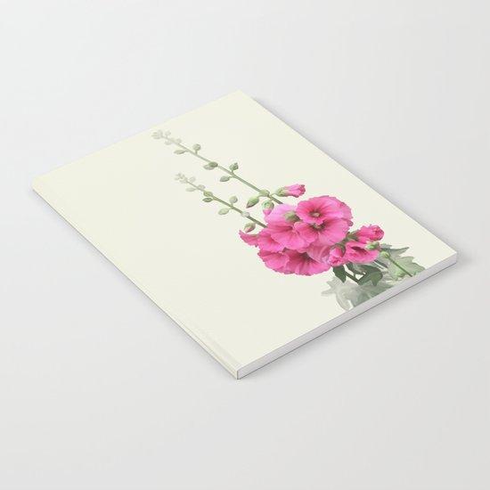 Pink flowers, watercolors Notebook