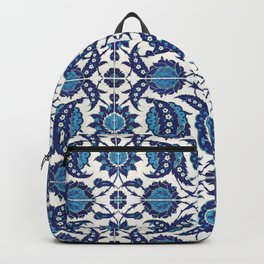 Iznik Pattern Blue and White Backpack