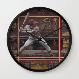 Pete Rose Wall Clock
