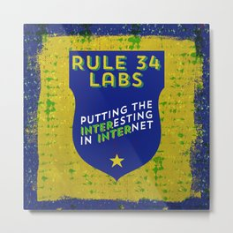Rule 34 Labs Metal Print