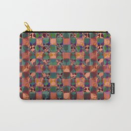 Mid Century Geometry Terracota Carry-All Pouch