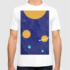 Solar System MEDIUM Mens Fitted Tee White