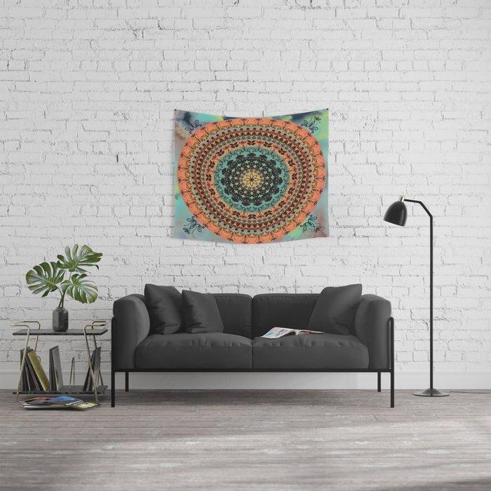 Sunset Desert Mandala Wall Tapestry