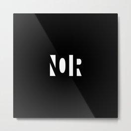 Simple Noir Metal Print