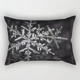 Two Snowflakes Rectangular Pillow