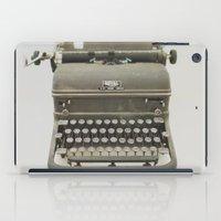typewriter iPad Cases featuring Typewriter by LUKE/MALLORY